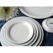 platos blancos porcelana resistentes